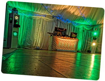 Wedding DJ Shropshire Lights